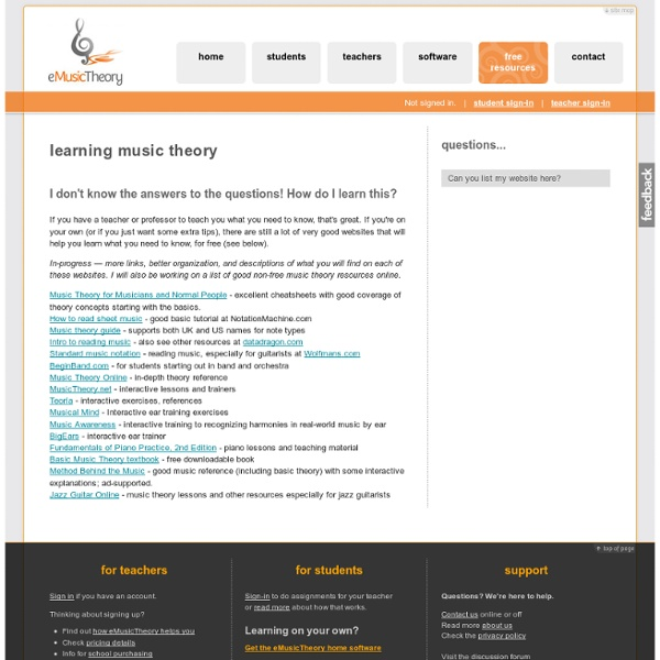 Learning: eMusicTheory.com