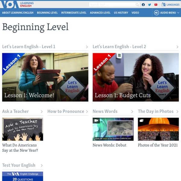 VOA Learning English - Beginning Level VOA - Voice of America English News