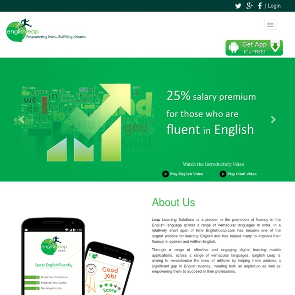 Learning English is Easy: Learn English Online Free with Englishleap