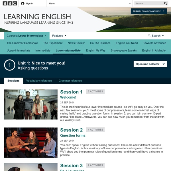BBC Learning English - Course: lower-intermediate / Unit 1