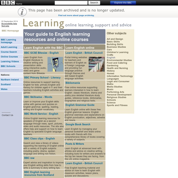 Bbc learning it free resources and online courses tattoo for Tattoo classes online free