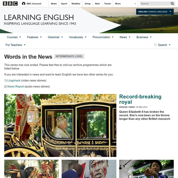 BBC Learning English - Words in the News