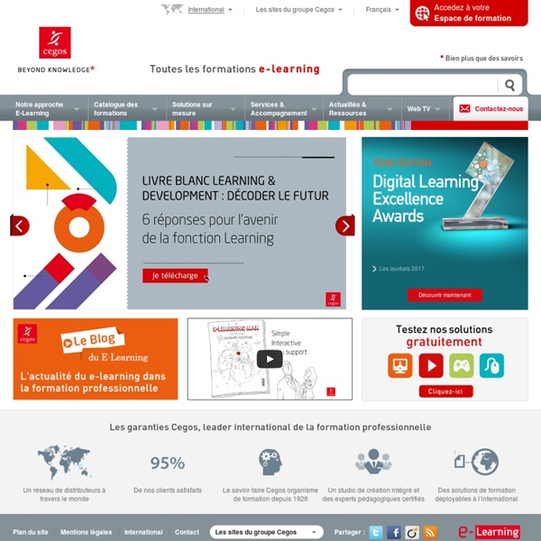 E-learning - Formation à distance - elearning - Cegos