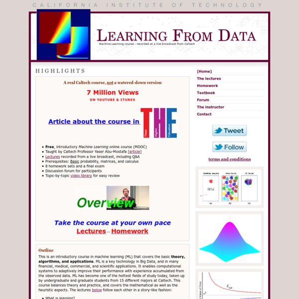 Learning From Data - Online Course (MOOC)