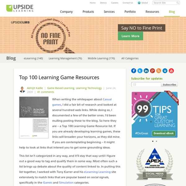 Top 100 Learning Game Resources