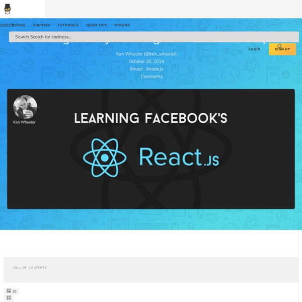 Learning React.js: Getting Started and Concepts