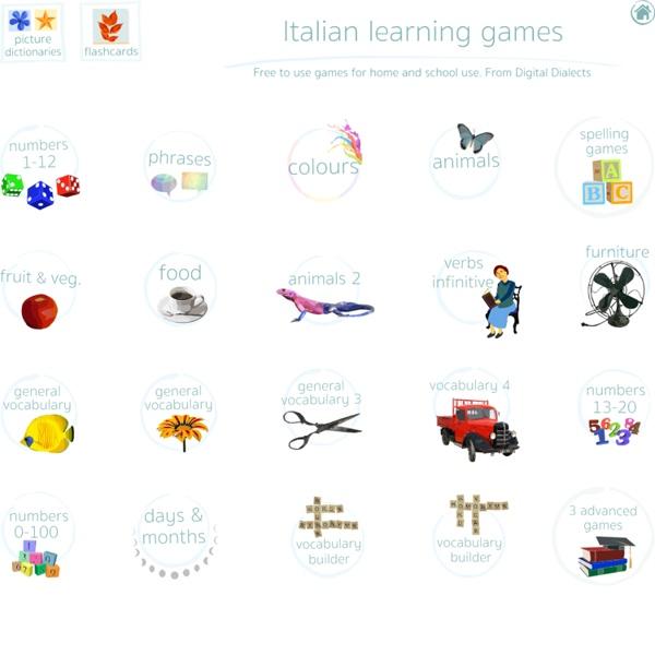 Italian language learning games