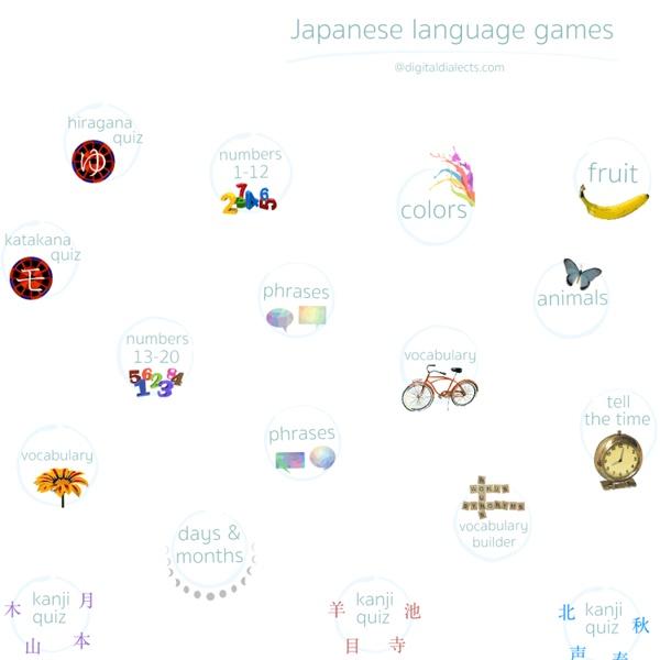 Japanese language learning games