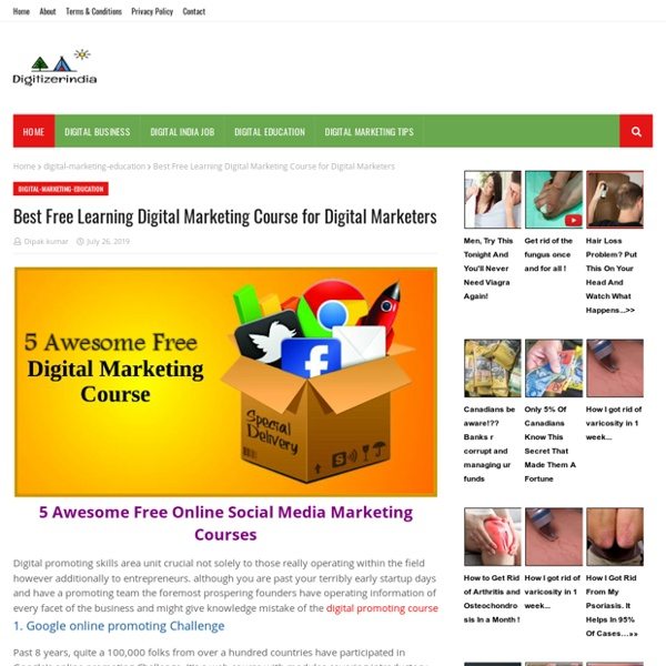 Best Free Learning Digital Marketing Course for Digital Marketers
