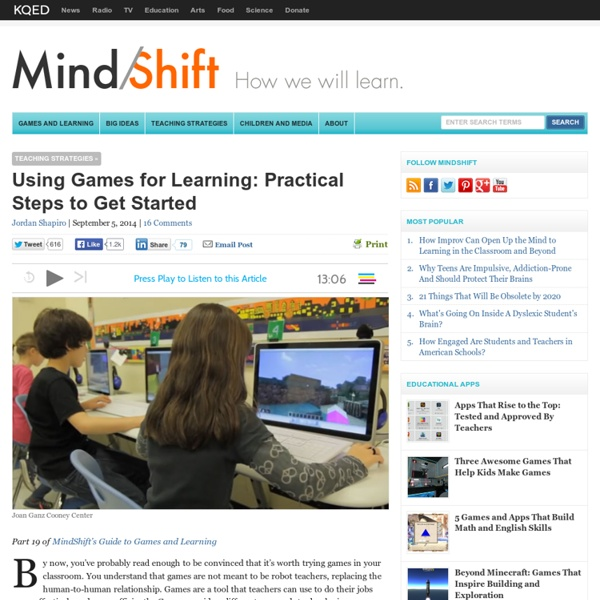 Using Games for Learning: Practical Steps to Get Started
