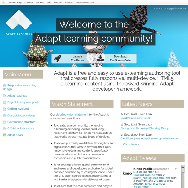 Adapt Learning Project Community