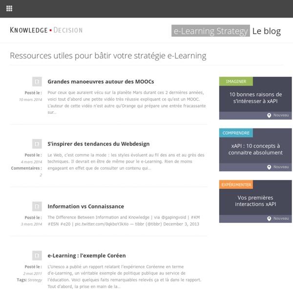 Ressources utiles pour bâtir votre stratégie e-Learning