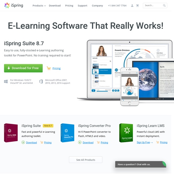 iSpring - E-Learning Software and Authoring Tools