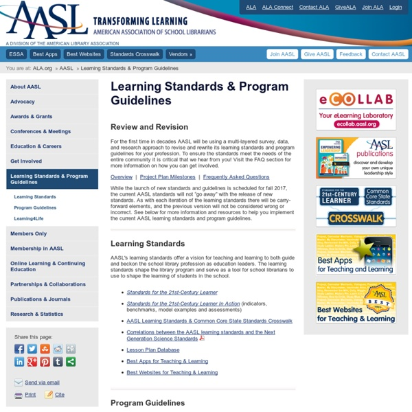 Learning Standards & Program Guidelines