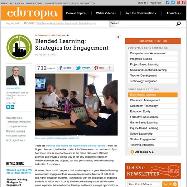 Blended Learning: Strategies for Engagement