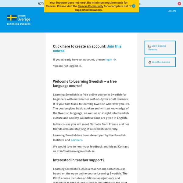 Learning Swedish