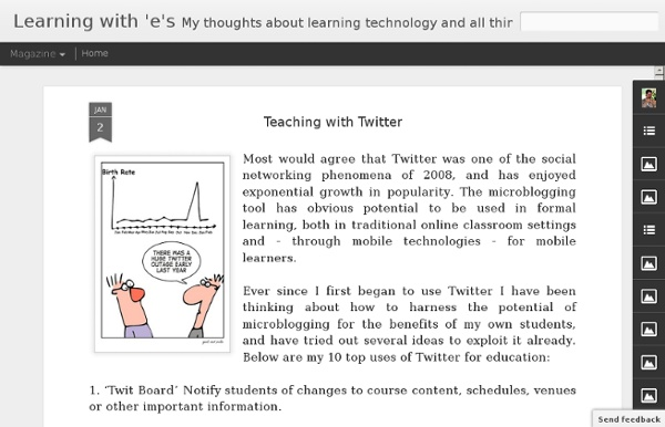 Learning with 'e's: Teaching with Twitter