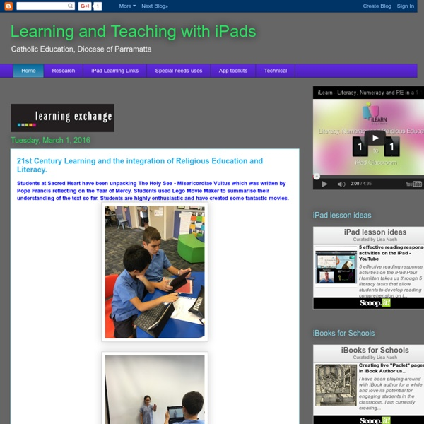 Learning and Teaching with iPads