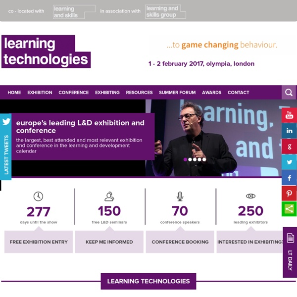 The 2013 Learning Technologies Exhibition