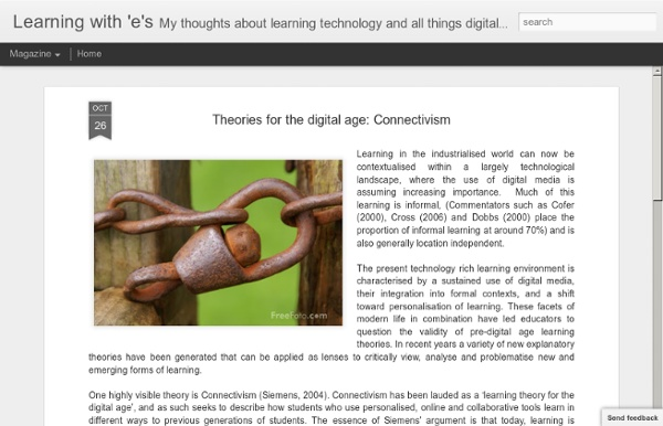 Theories for the digital age: Connectivism