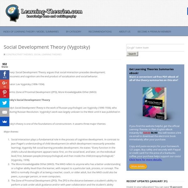 Social Development Theory (Vygotsky