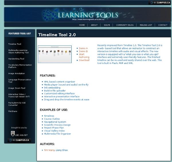 Learning Tools - Timeline tool