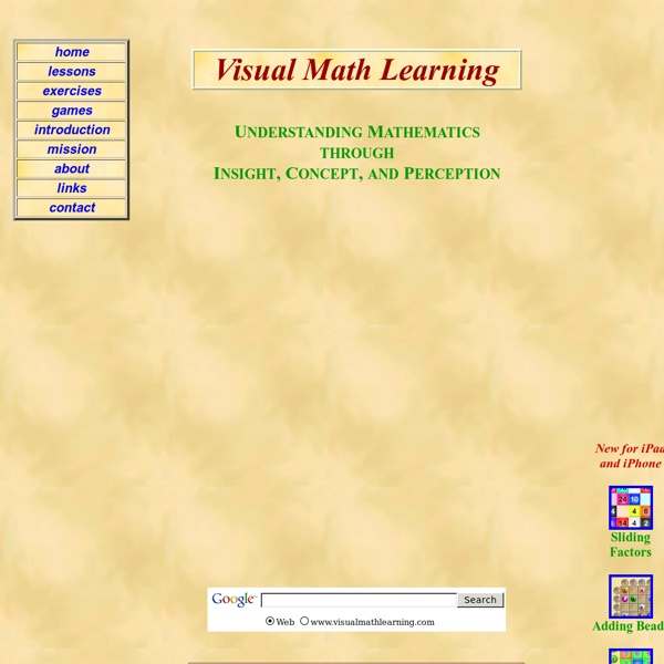 Visual Math Learning: A Free Online Tutorial for Teaching Math