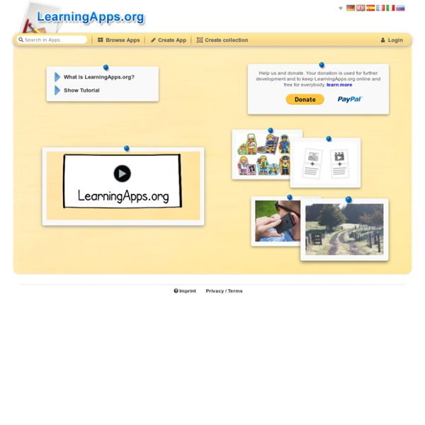 LearningApps - interactive and multimedia learning blocks
