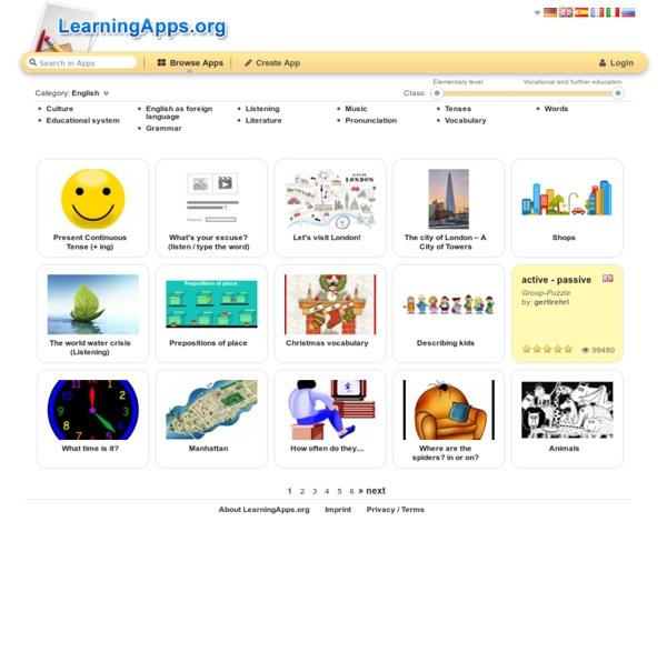 Modules d'apprentissage interactifs et multimédia