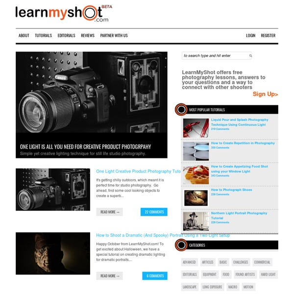 LearnMyShot - Photography Tutorials, Tips, Techniques & How To Videos