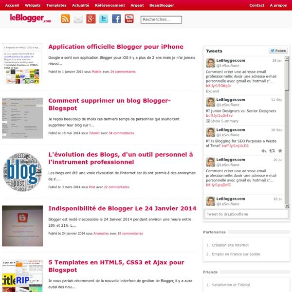 LeBlogger.com : Blogger et Blogspot