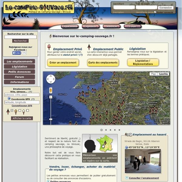 Pratique du camping sauvage ou bivouac en France