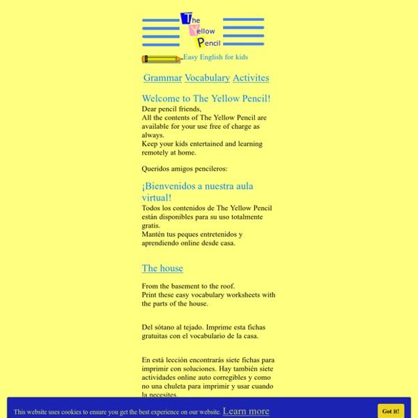 The Yellow pencil inglés para niños The yellow pencil