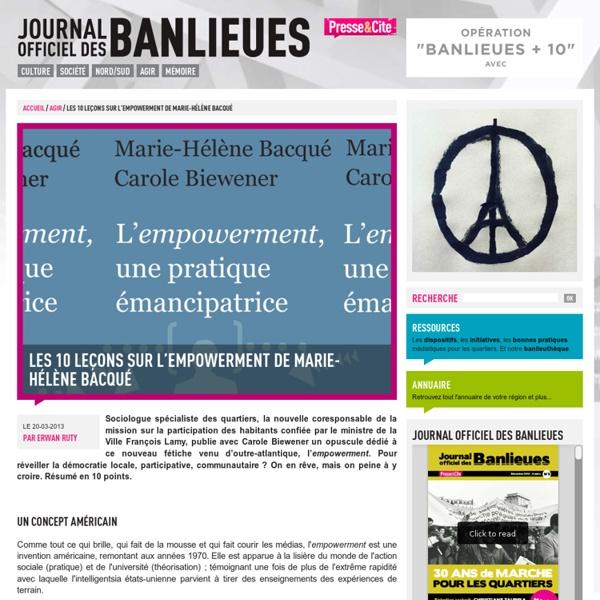 Les 10 leçons sur l'empowerment de Marie-Hélène Bacqué