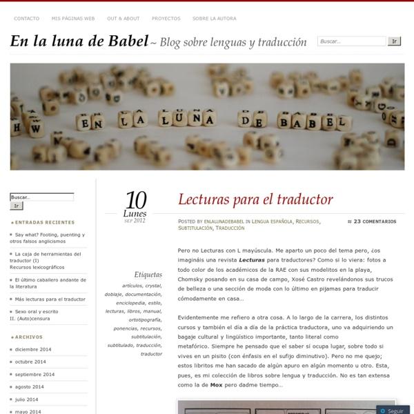 Lecturas para el traductor « En la luna de Babel