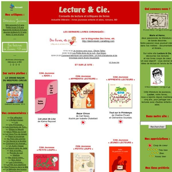 Lecture & Cie : conseils de lecture, critiques de livres