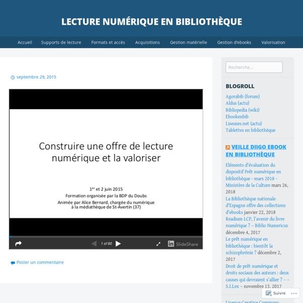 Lecture numérique en bibliothèque