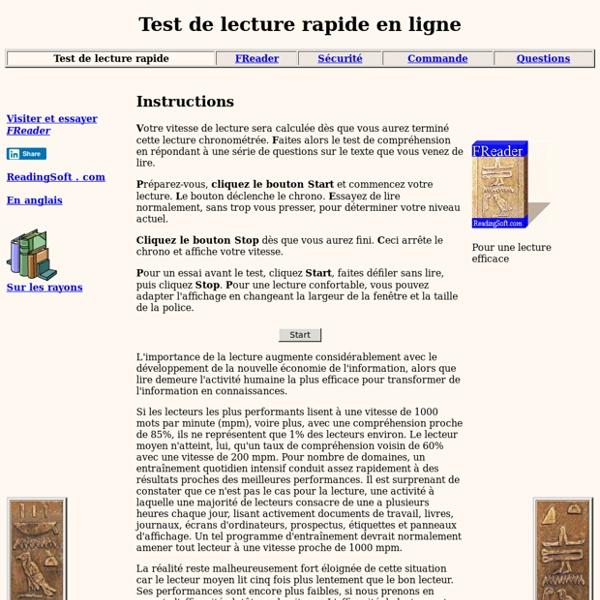 Lecture Rapide: test en ligne