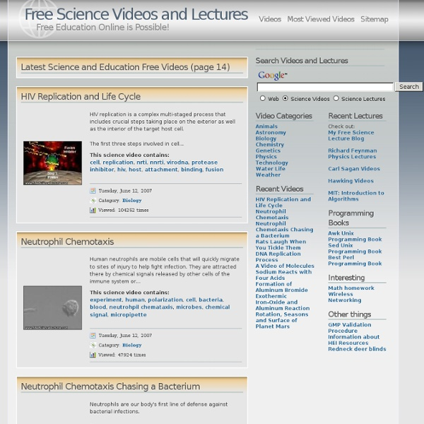 Free Science Videos and Lectures: Free Education Online is Possible!