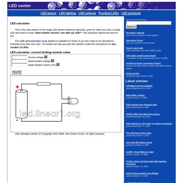 LED calculator for single LEDs