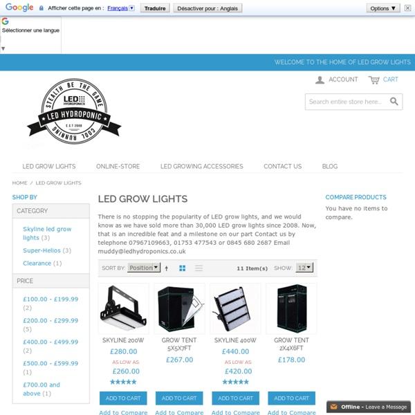 Led Grow Lights UK - ledhydroponics.co.uk