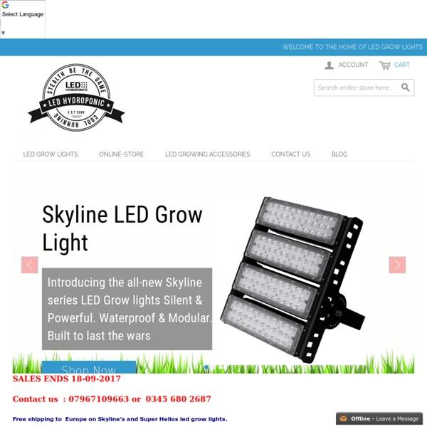 Grow Lights - ledhydroponics.co.uk
