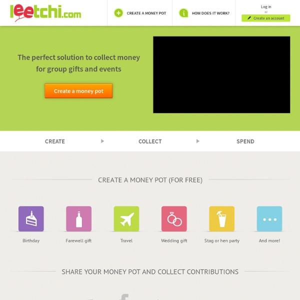 Leetchi - Cagnotte cadeau, cagnotte anniversaire, cagnotte en ligne
