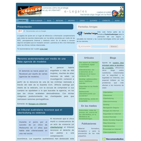 Delitos y cuestiones legales en Internet y otras NTIC