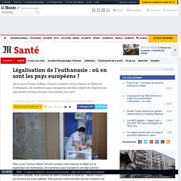 Légalisation de l'euthanasie : où en sont les pays européens ?