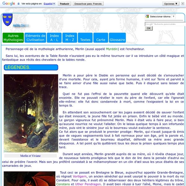 Légendes médiévales: Merlin