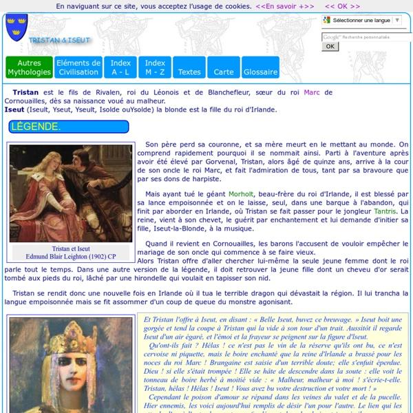 Légendes médiévales: Tristan et Yseult