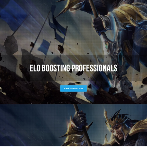 The Elo Boosting Professionals