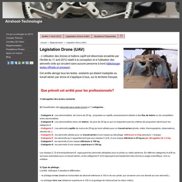 Législation Drone (UAV)