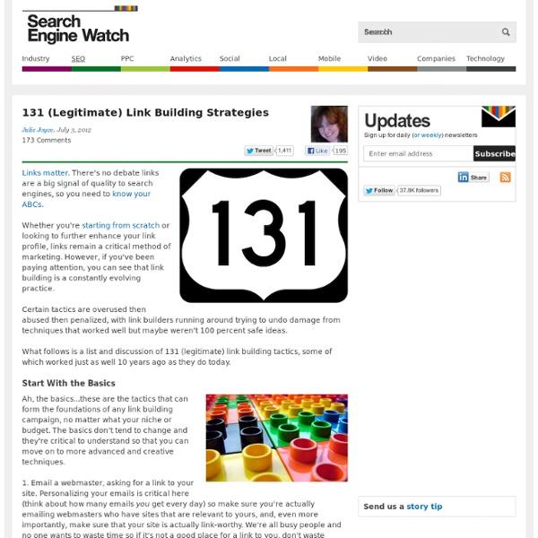 131 (Legitimate) Link Building Strategies